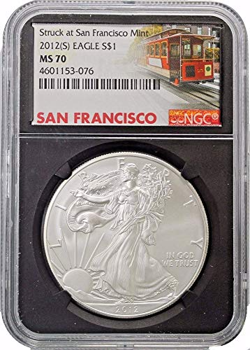 (2012 (S) American Silver Eagle $1 MS70 NGC Black Core Holder)