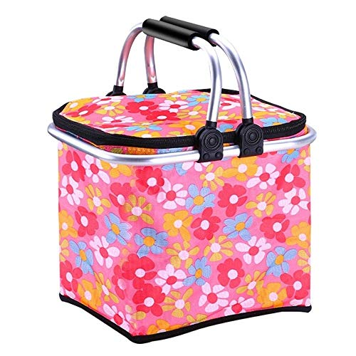 Kylinyyl Picnic Bag Picnic Basket Large Soft Cooler Insulated Picnic Bag for Grocery, Camping, Car (Color : Red) -