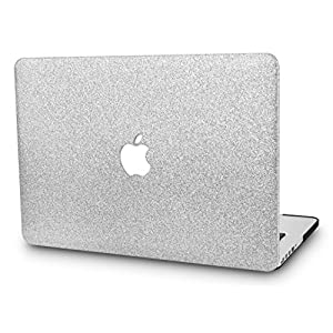 KEC MacBook Pro 15 Inch Case 2017 & 2016 Touch Bar, Cover Plastic Hard Shell Rubberized A1707 (Silver Sparkling)