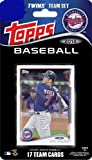 2014 Topps Minnesota Twins Factory Sealed Special Edition 17 Card Team Set with Joe Mauer Plus