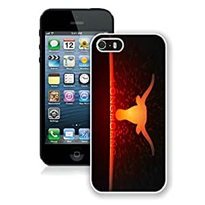 iPhone 5S Case,NCAA Big 12 Conference Big12 Football Texas Longhorns 11 White For iPhone 5S Case