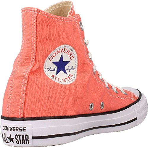 Converse Unisex Adults' Chuck Taylor All Star Hi-Top Trainers, Pink Power, 5.5 UK Orange