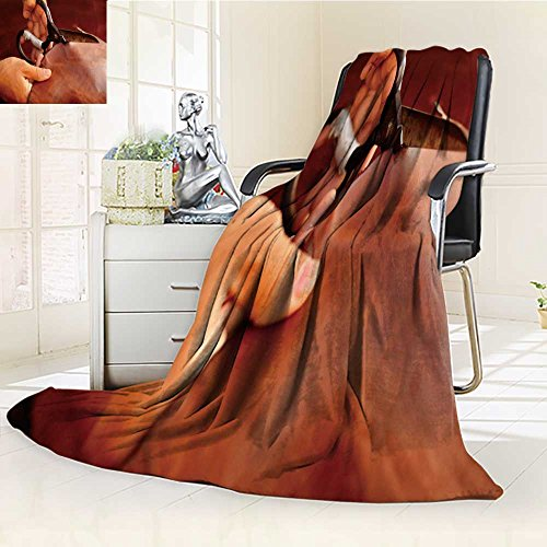 300 GSM Fleece Blanket tailor cutting animal skins leather at textile factory old women s hands with Super Soft Warm Fuzzy Lightweight Bed or Couch Blanket(90''x 70'') by VROSELV