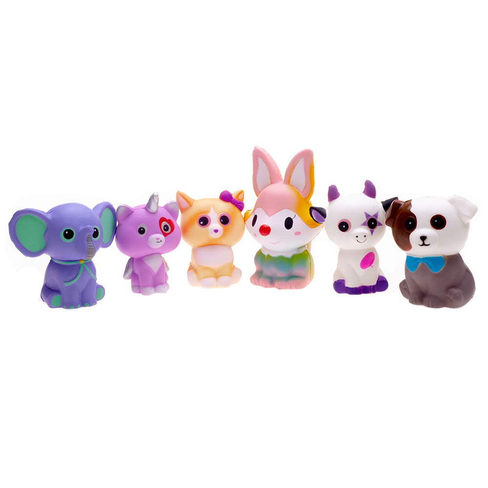 FORTON Kawaii Slow Rising Squishy Toys Animals Unicorn Cat Dog Cow Fox Elephant Squishies Pack of 6 by FORTON (Image #4)