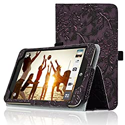 Acdream At&t Asus Memo Pad 7 Lte Protective Case [With Auto Wake Sleep Feature] - Premium Pu Leather Smart Cover Case For At&t Asus Memo Pad 7 Lte Gophone Prepaid Tablet Me375cl, Purple-grape