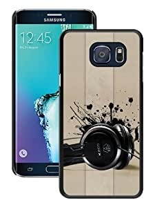 Hot Sale Headphones Music Black Samsung Galaxy Note 5 Edge Screen Phone Case Cool and Charming Design