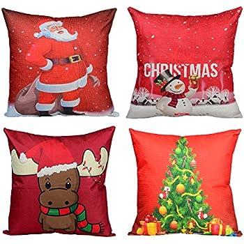 Amazon Merry Christmas Throw Pillow Covers Wonder40 Xmas Beauteous Decorate Pillow Cases