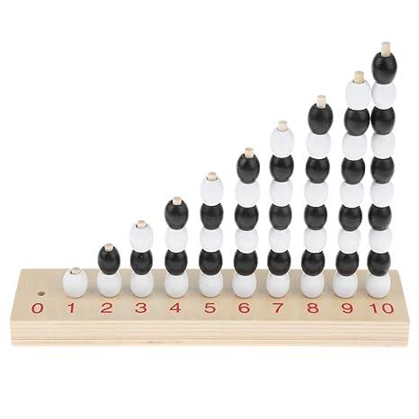 on sale b3175 5e8b5 Homyl Set Di Giochi Numeri Dispari e Pari Materiale Matematica Montessori  Educativo Precoce Bambini Legno