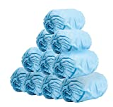 100 Pack of Disposable Shoe Covers. Blue Shoe
