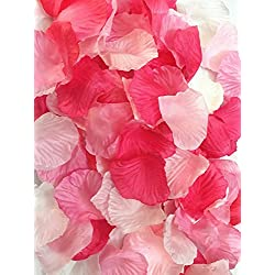 Ellami 1000pc Silk Rose Petals Wedding Flowers Favors