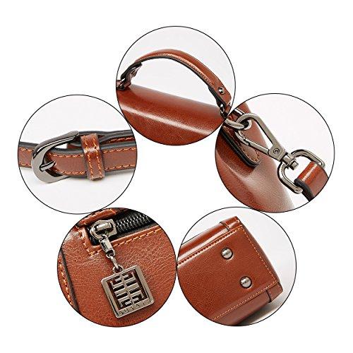 à dames Vintage cuir BOYATU Marron Top bandoulière Sacs pour Sac Handle à en Femmes main vY8xZqY