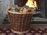 Stow Green Wicker Heavy-Duty Log Basket - Large