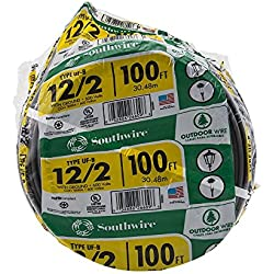 Southwire 13055926 12/2WG UF Wire 100-Foot, Approved for Direct Burial Wiring