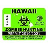 """RDW Alaska Sasquatch Hunting Permit - Color Sticker - Decal - Die Cut - Size: 4.00"""" x 3.00"""""""