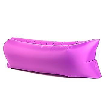 Tumbona Inflable de lujo sofá camas de aire de compresión saco de dormir, silla portátil