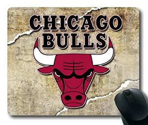 NBA Chicago Bulls Logo Mouse Pad/Mouse Mat Rectangle by ieasycenter