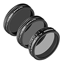 Neewer® for DJI Phantom 3 Professional and Advanced Filter Set, includes: (1)PL Filter+(1)ND8 Filter+(1)ND16 Filter, Made of High Definition Glass, Not for DJI Phantom 3 Standard