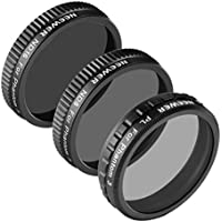 Neewer for DJI Phantom 3 Professional and Advanced Filter Set, includes: (1)PL Filter+(1)ND8 Filter+(1)ND16 Filter, Made of High Definition Glass, Not for DJI Phantom 3 Standard