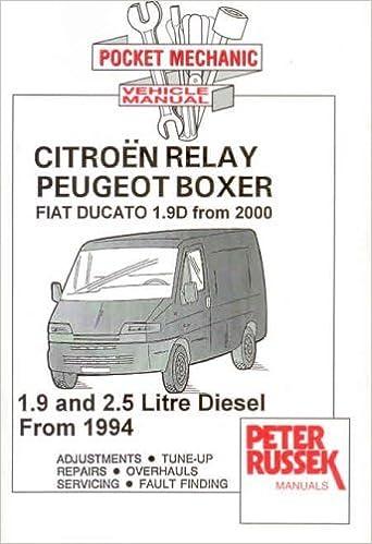 Service & Repair Manuals NEW Citroen Relay Peugeot Boxer Ducato ...