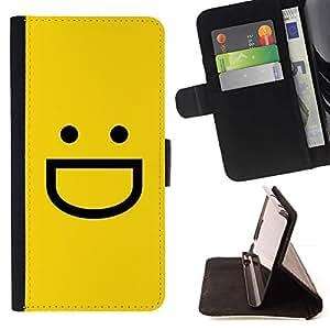 For Sony Xperia M5 E5603 E5606 E5653 Case , Amarillo Emoticon Emoji- la tarjeta de Crédito Slots PU Funda de cuero Monedero caso cubierta de piel
