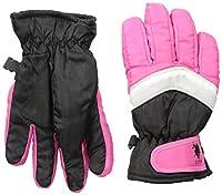 U.S. Polo Assn. Big Girls Ski Gloves, Black/Pink, One Size