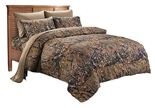 Microfiber Brown Camo Comforter Spread - Twin Size ()