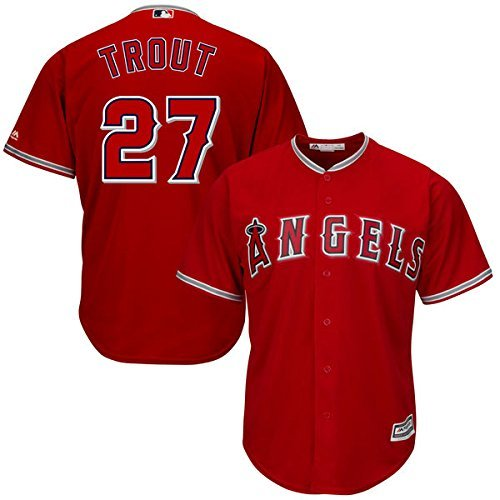 Mike Trout Los Angeles Angels Of Anaheim  27 Youth Alternate Jersey Red  Youth Medium 10 12