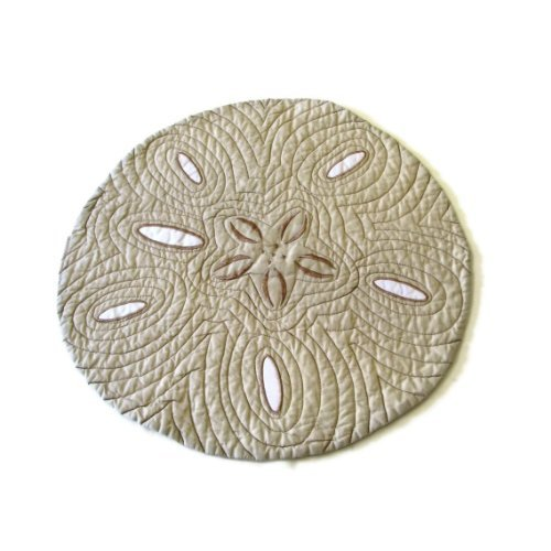 Ocean Beach Sand Dollar Reversible Placemats Set of 4 -