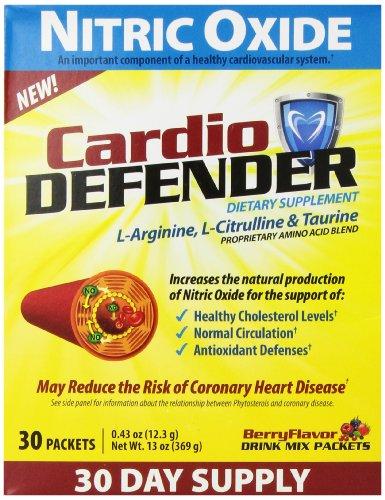 Supplément Cardio Defender oxyde nitrique Antioxydant, 30 comte