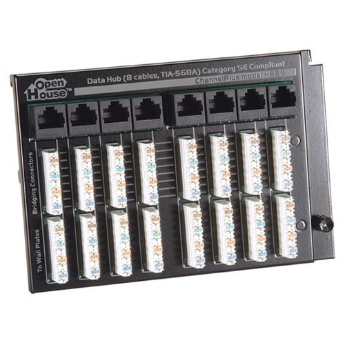 - Open House Expanded Termination Data Hub Required to Operate 650 Integration Voice Network 100 Base T 8 CAT5E Data Line RJ-45 Jack Terminator with 110 Punch Down Connectors, Grid Mountable