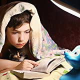 LuminoLite LED Book Light for Reading in Bed, Touch Control USB Rechargeable Reading Lights with Eye Care 3 Level Brightness, 360° Flexible Clip On Headboard Book Light for Kids