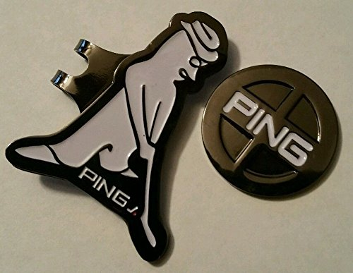 brand-new-gun-metal-black-and-white-ping-golf-ball-marker-with-hat-clip