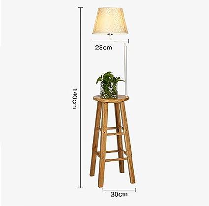 Lámparas de pie Lámpara de pie, lámpara de pie de madera ...