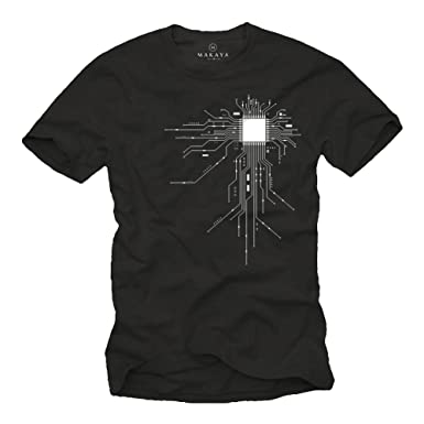 Amazon.com: Makaya Men's Geek T-Shirt Gamer CPU Print: Clothing