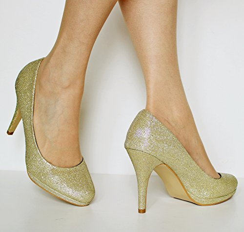 Gold on Scarpe Styles Rock con donna Tacco OYzdHqwf