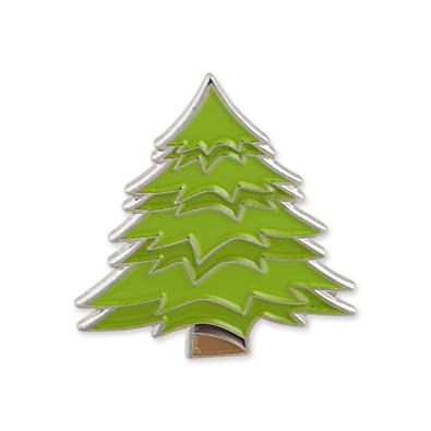 Forge Evergreen Pine Tree Emoji Green Enamel Lapel Pin– 1 Pin