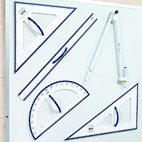 Learning Advantage Dry Erase Magnetic Measurement Set Whiteboard Compass, Protractor, Ruler and Triangles by Learning Advantage (Image #3)