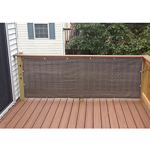 Alion Home Elegant Privacy Screen Fence Mesh Windscreen for Backyard Deck Patio Balcony Pool Porch Railing 3 FT Height Brown/Mocha (3'x15')