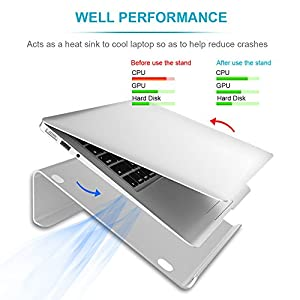 Laptop Stand Aluminum Cooling Notebook Stand Tablets Stand For MacBook Surface Chromebook and Gaming Laptops