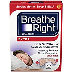 Breathe Right Extra Tan Nasal Strips - 26 Count