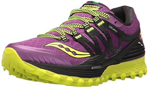 Saucony Women's Xodus Iso Running Shoes, Grey, US Purple/Pink/Cotton
