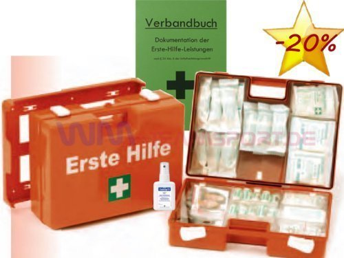 Erste-Hilfe-Koffer M1 für Betriebe DIN 13157 EN 13157 Stand 2014 incl. Verbandbuch & Desinfektion