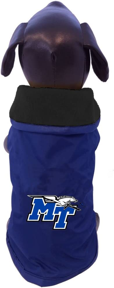 X-Small NCAA Middle Tennessee State Blue Raiders All Weather-Resistant Protective Dog Outerwear