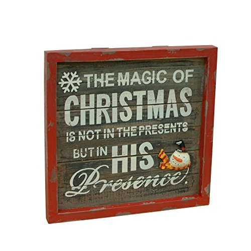 Y&K Decor The Magic of Christmas is Not in the Presents But is Presence Christmas Decoration Wall Art, 6