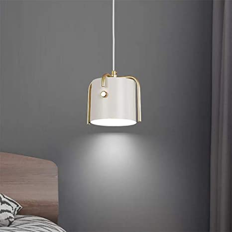 Nordic Minimalist Style Pendant Light Ceiling Lamp Metal Hanging Lighting Shade Corded Swag Light Fixture For Living Room Kitchen Island Bedroom White Amazon Com