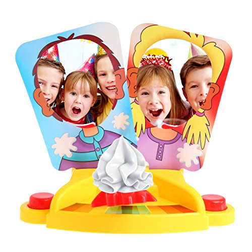 Cencity Prank Funny Double Person Toy Cake Cream Pie in The Face Anti Stress Toy for Kid  for Kids, Raves, Birthday, Wedding, Christmas, Halloween, Children Party Decor -
