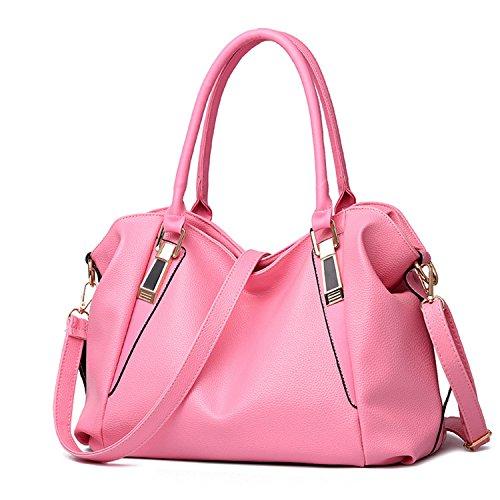 Availcx Totes los las rosa señoras hombro PU de la mujeres de de las portátil cuero bolsos de Bolso de de rq8Uar