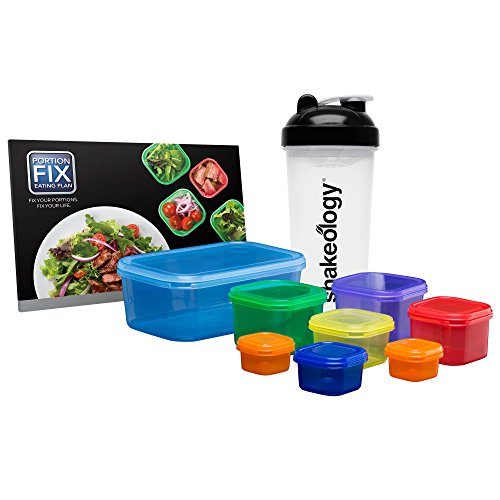 (Beachbody Portion Fix - Portion Control Containers with Guide)