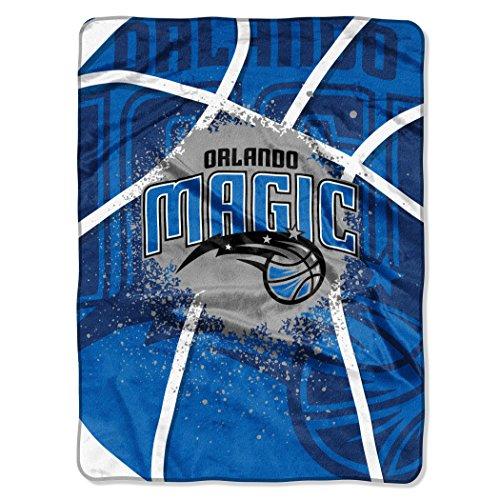 "The Northwest Company Officially Licensed NBA Orlando Magic Shadow Play Plush Raschel Throw Blanket, 60"" x 80"""