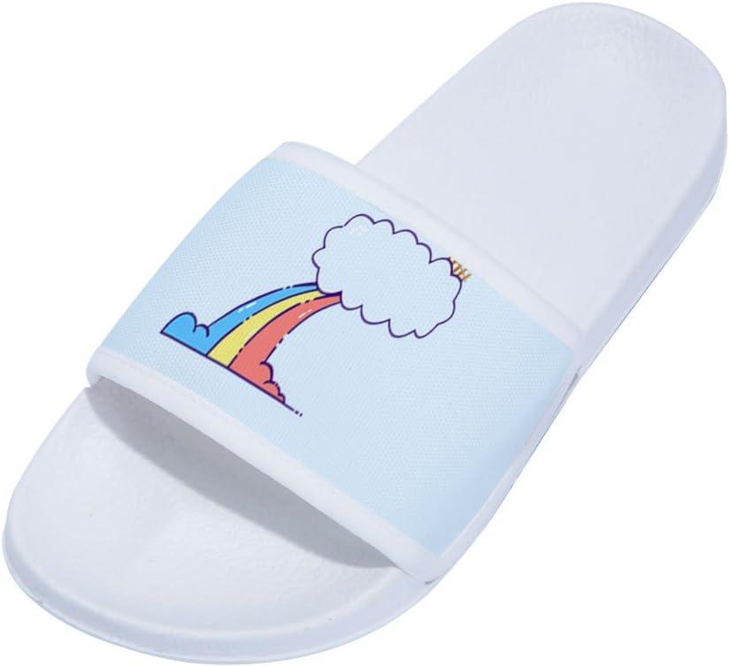 Little Kid//Big Kid Feisette Slides Sandals for Boys Girls Rainbow Anti-Slip Shower Pool Beach Slippers